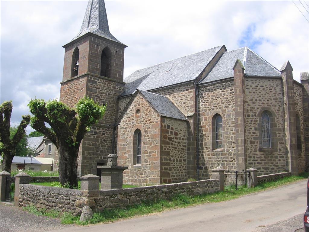 Fressanges Church, near Neuveglise-1