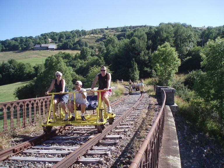 The rail bike in Cézallier-2