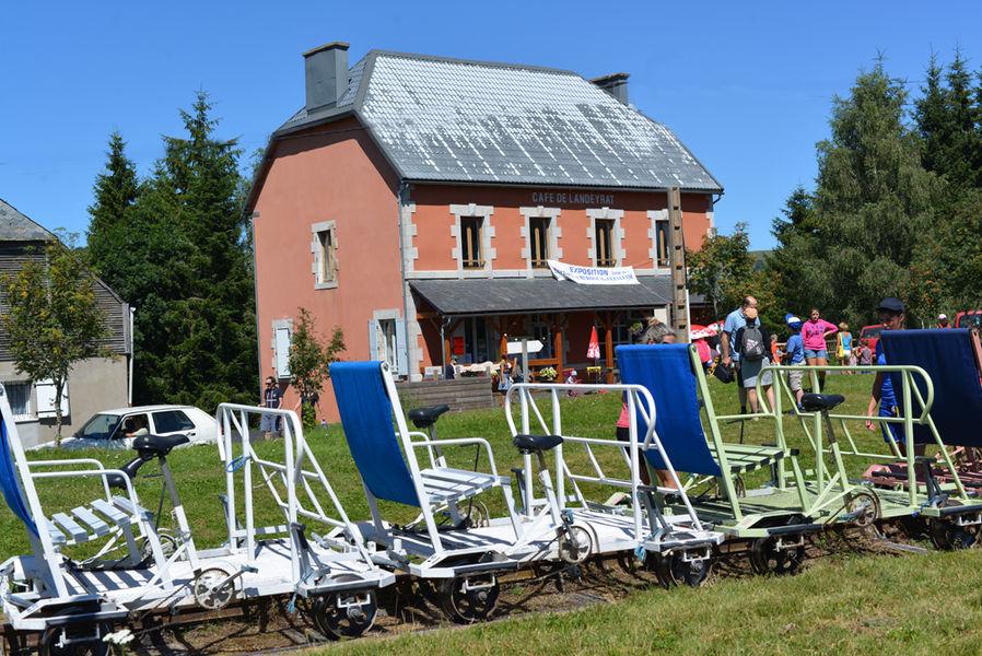 The rail bike in Cézallier-5