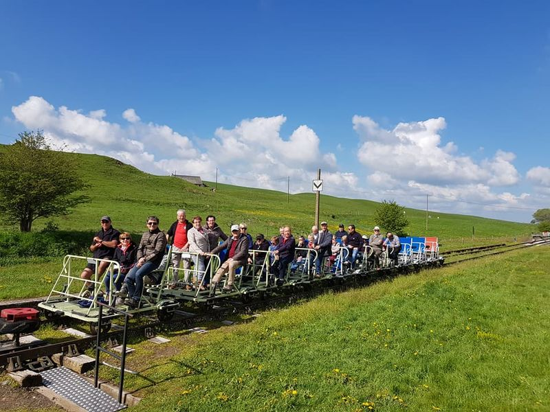 The rail bike in Cézallier-7