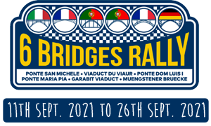 Logo et dates 6 bridges rally