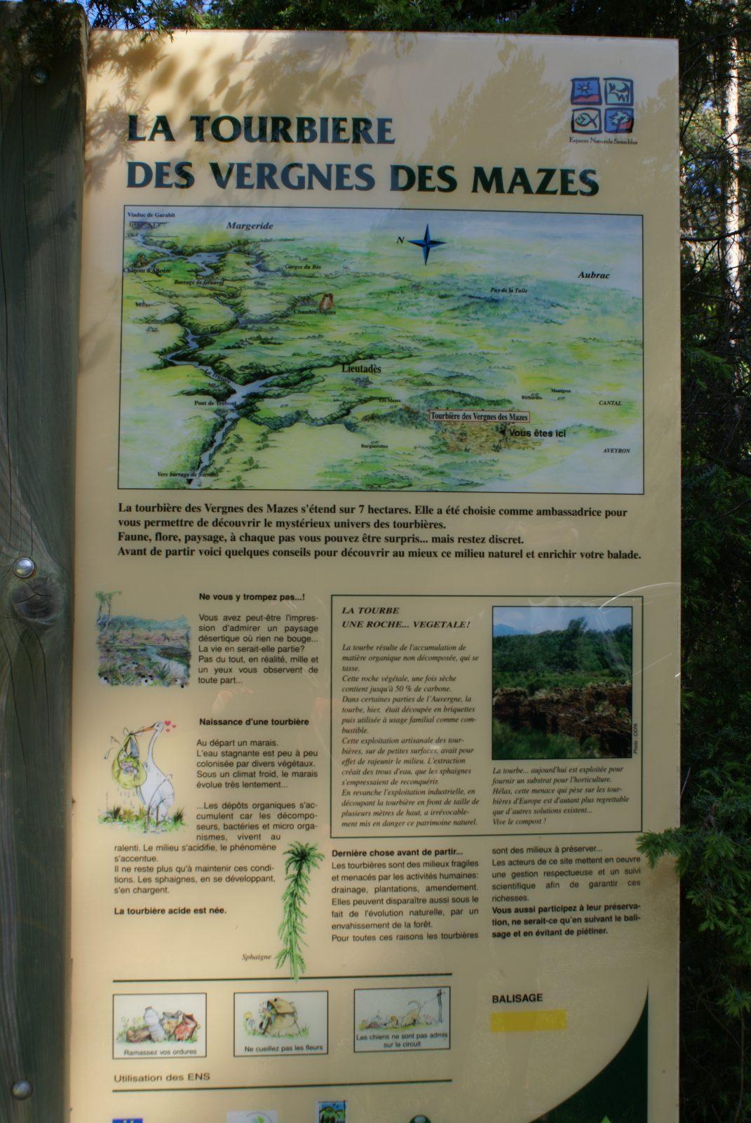 Tourbière des Vergnes des Mazes, sentier de découverte-3